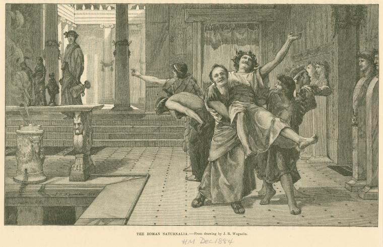 Image ID: 1623943 The Roman Saturnalia. (1884)