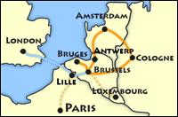 european tour route map