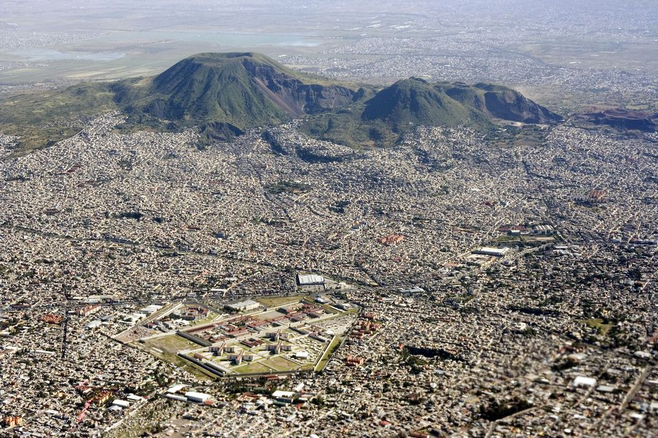 Aerial view of Mexico City