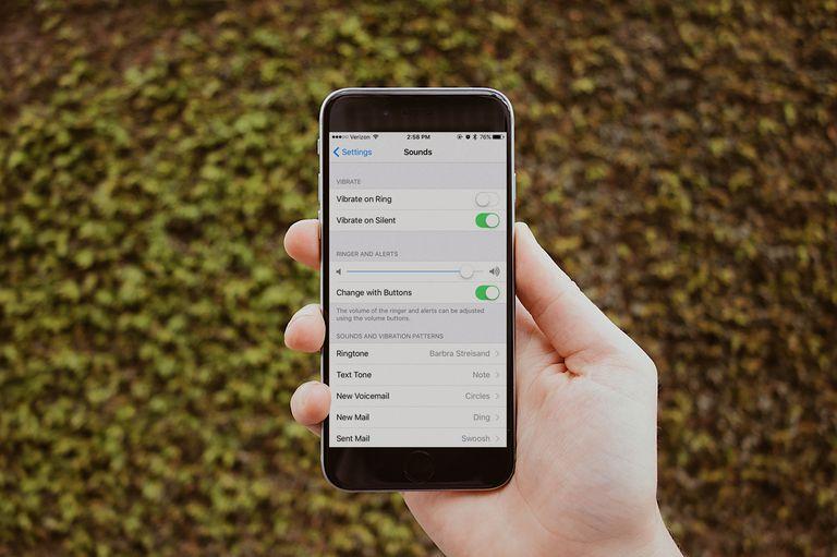 iPhone sounds menu