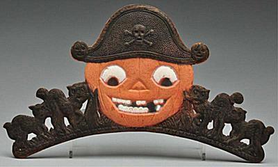 Halloween Pumpkin Pirate Tiara Die-Cut