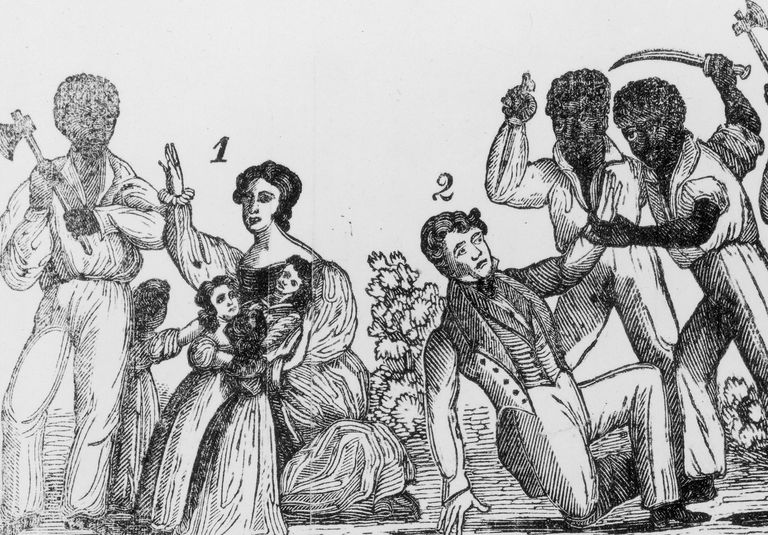 Illustration depicting violence of Nat Turner's Rebellion