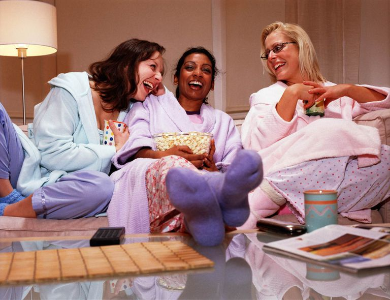 A picture of women enjoying a girls night in
