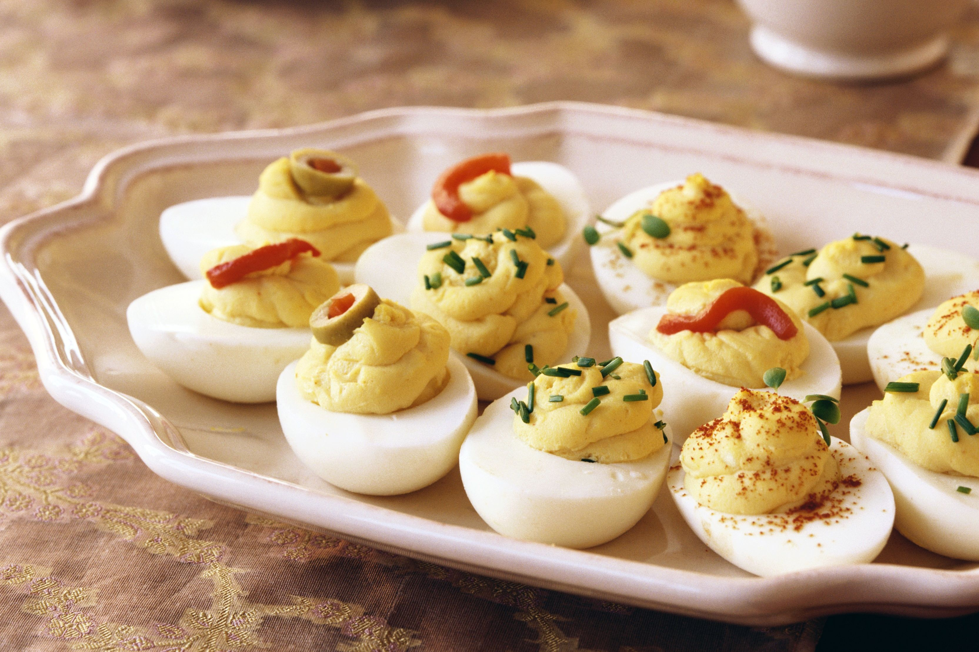 Basic Deviled Eggs Snack Recipe