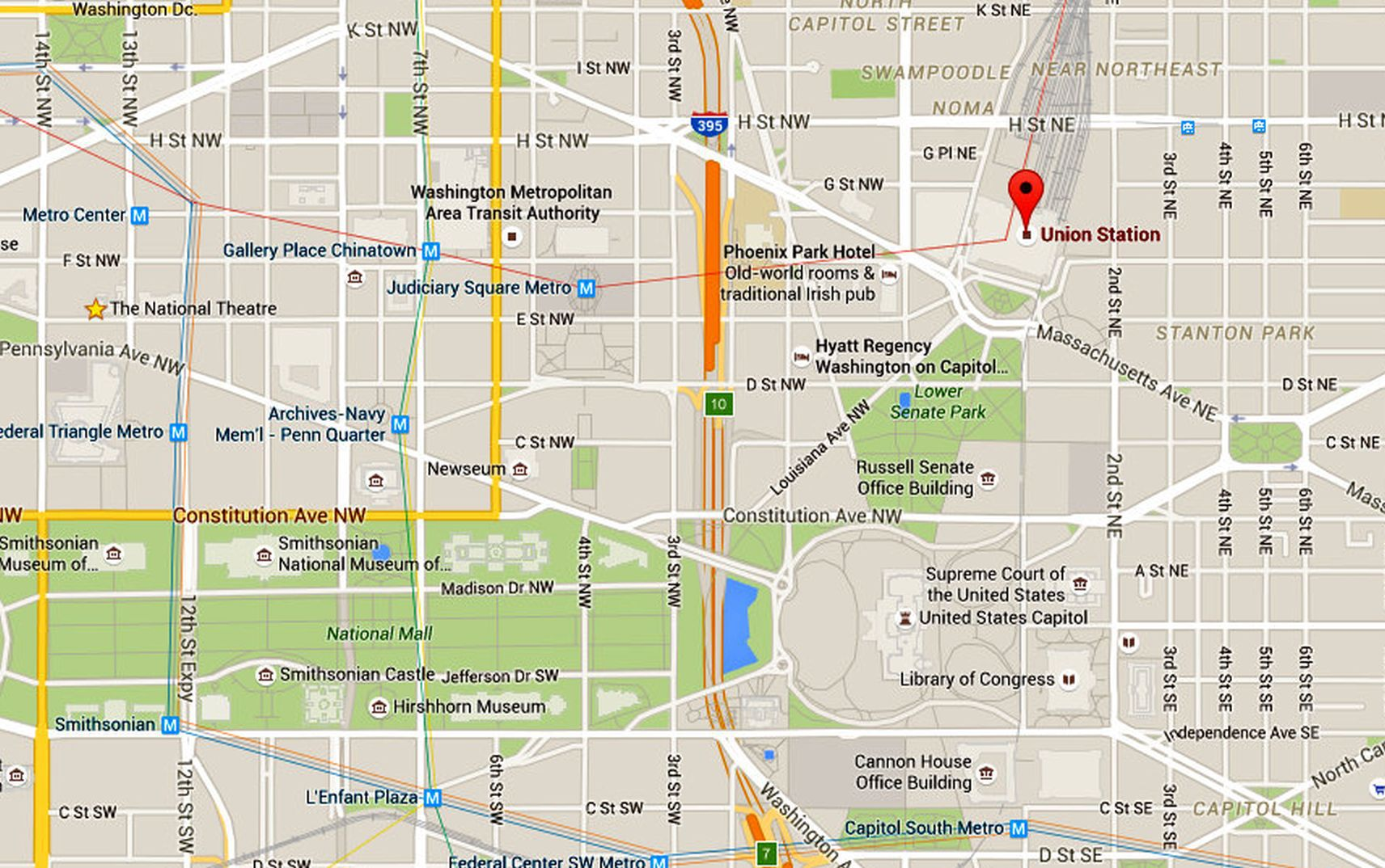 union station map and directions washington dc