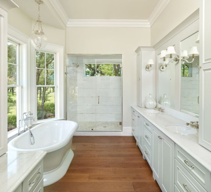 wood floors in the bathroom 15 wood bathroom floors that wow 24716
