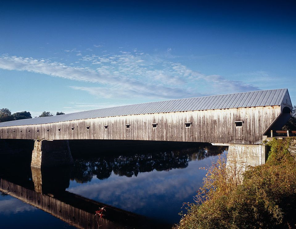 Longest U.S. covered bridge, Windsor, New Hampshire