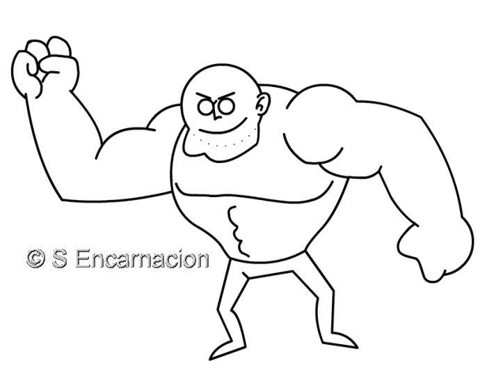 How To Draw A Cartoon Tough Guy