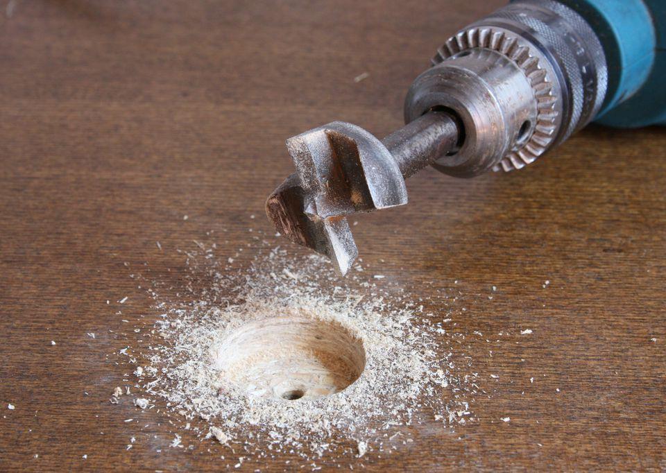 forstner bit for metal. tip for using a forstner bit with portable drill metal