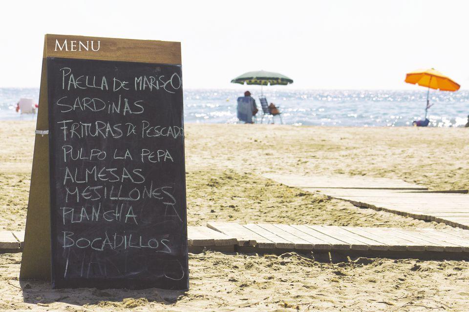 Menu in Spain