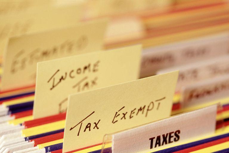 Tax labeled file folders