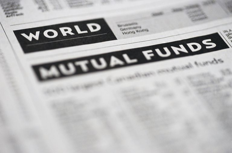 Mutual funds listed in a newspaper.