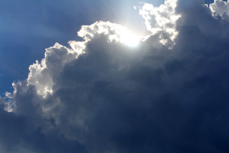 Water vapor can condense to form clouds.