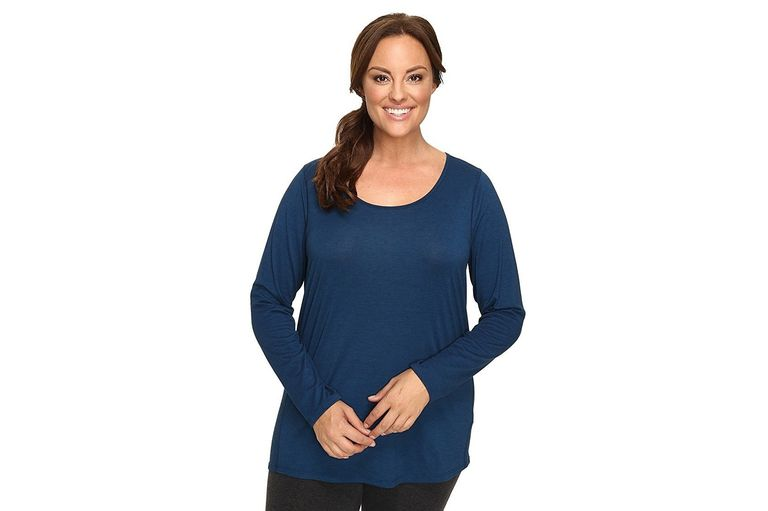 Lucy Women's Plus Size Long Sleeve Workout Tee