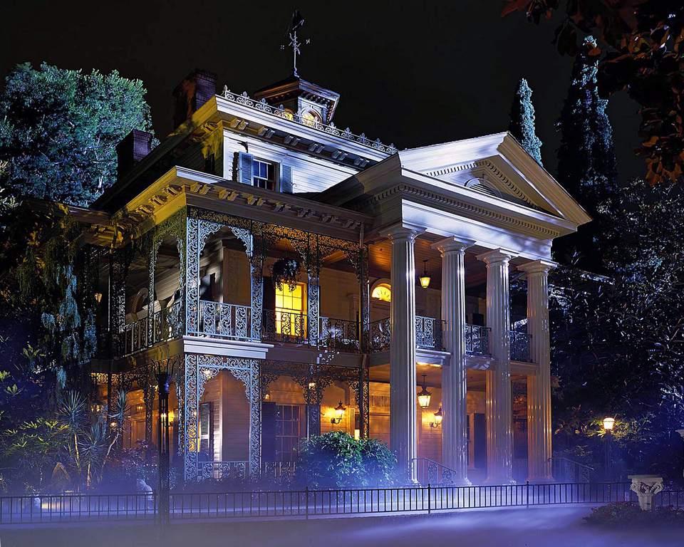 Haunted Mansion exterior at Disneyland.