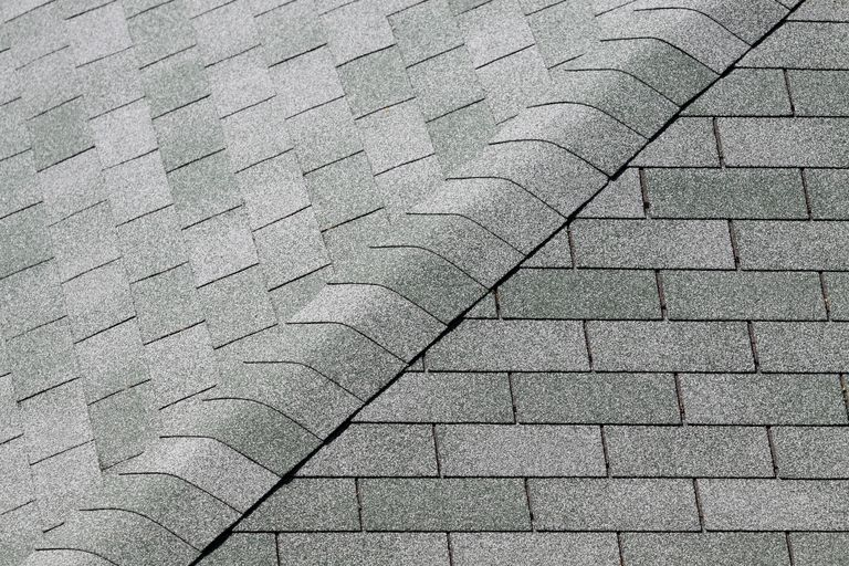 Tiles of a sloping roof