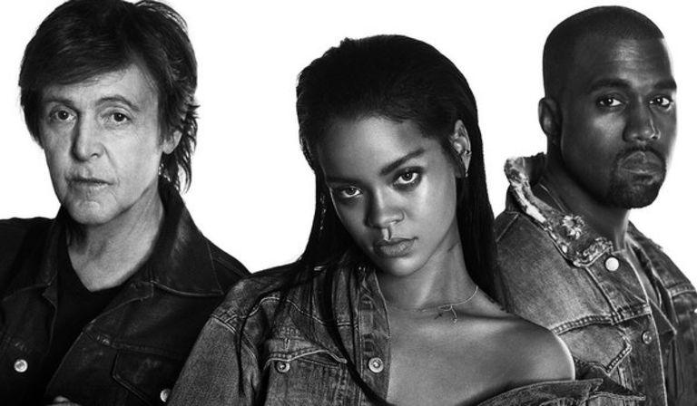 Rihanna, Kanye West, and Paul McCartney