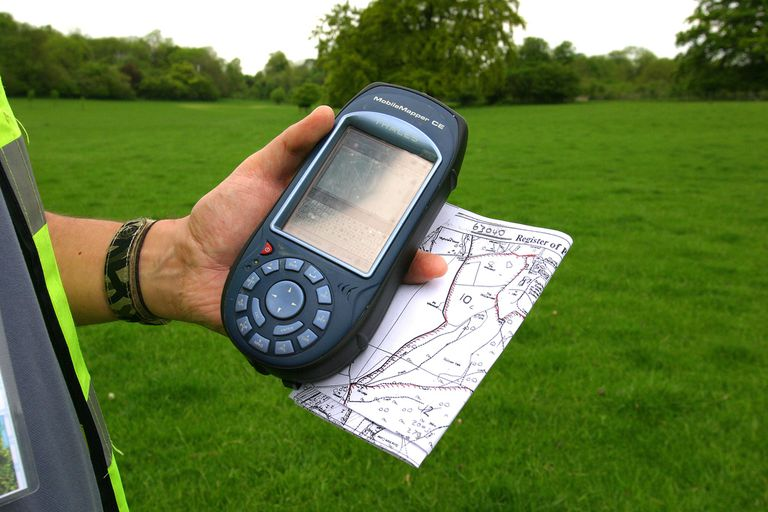 Hand held GPS Unit Used During Archaeological Survey