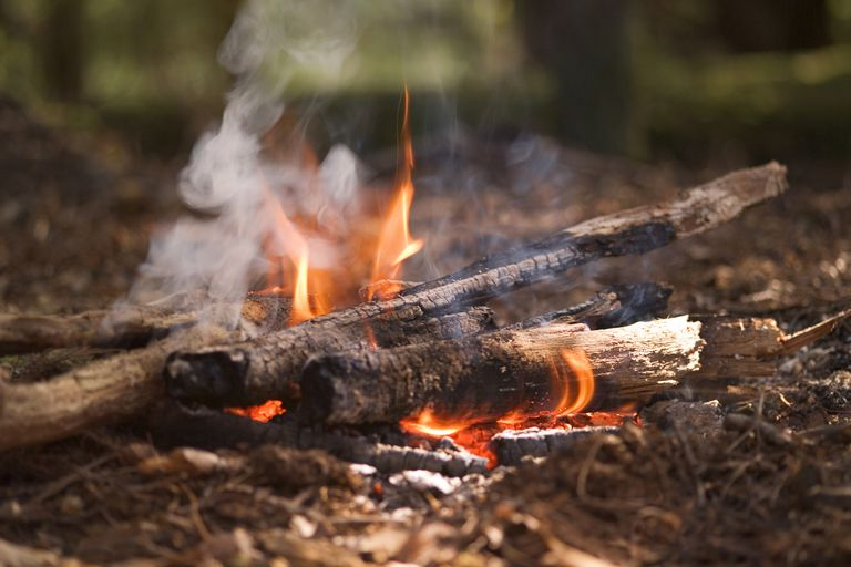 Campfire smoke contains many pollutants