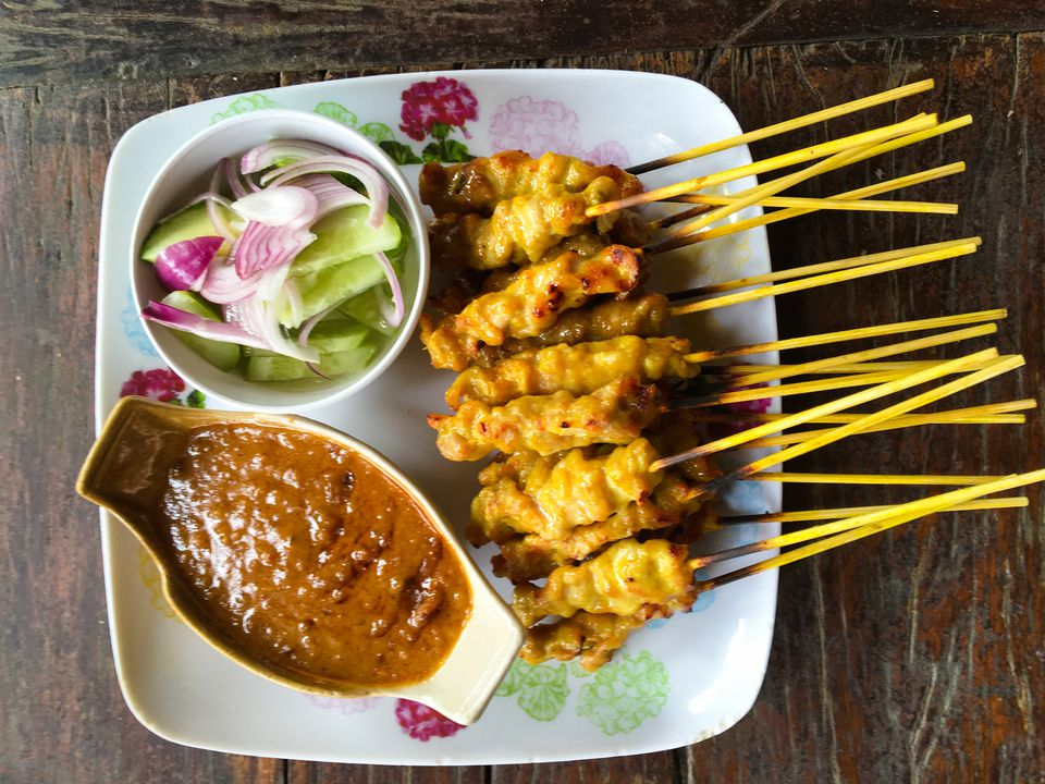 Low Fat Chicken Satay With Peanut Sauce Recipe