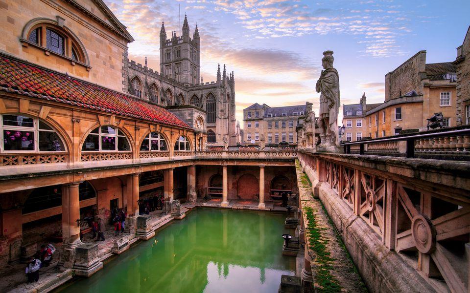 The Roman Baths, Bath, Somerset, England