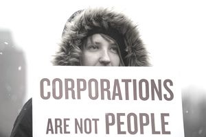Protester says corporations are not people