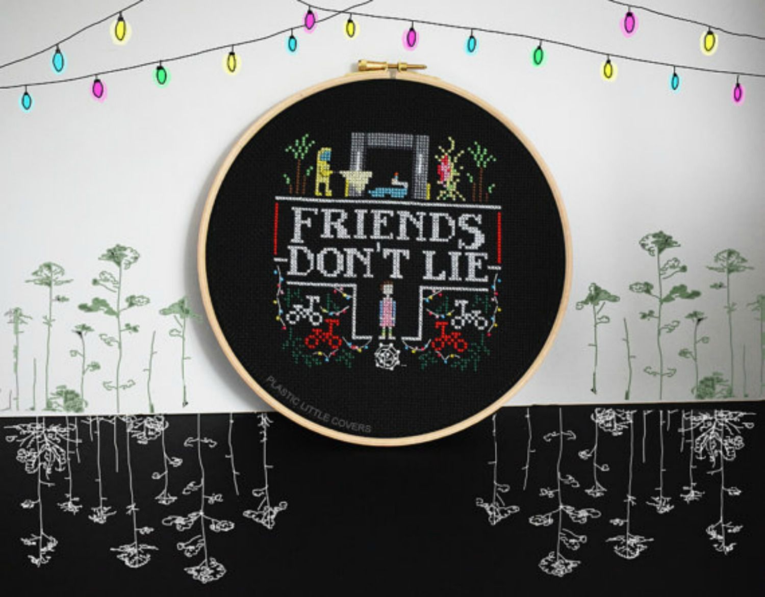 10 Stranger Things Inspired Cross Stitch Patterns