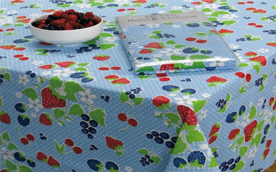 Vinyl tablecloth care Large