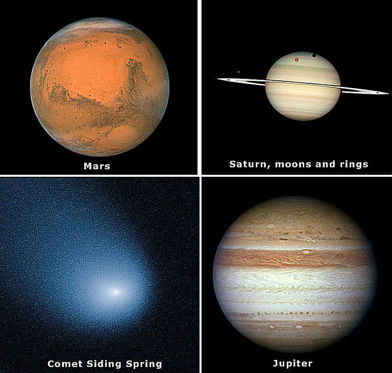 Hubble Solar System images