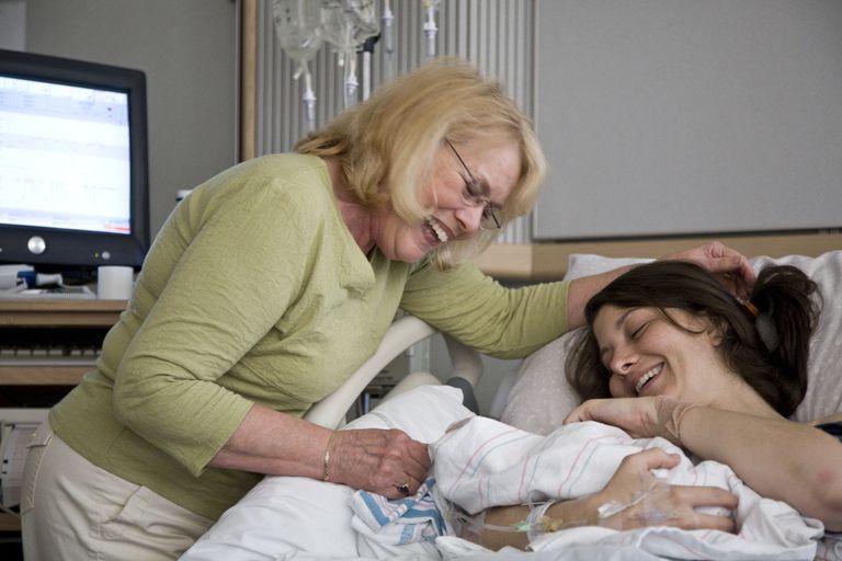 Grandma at a birth