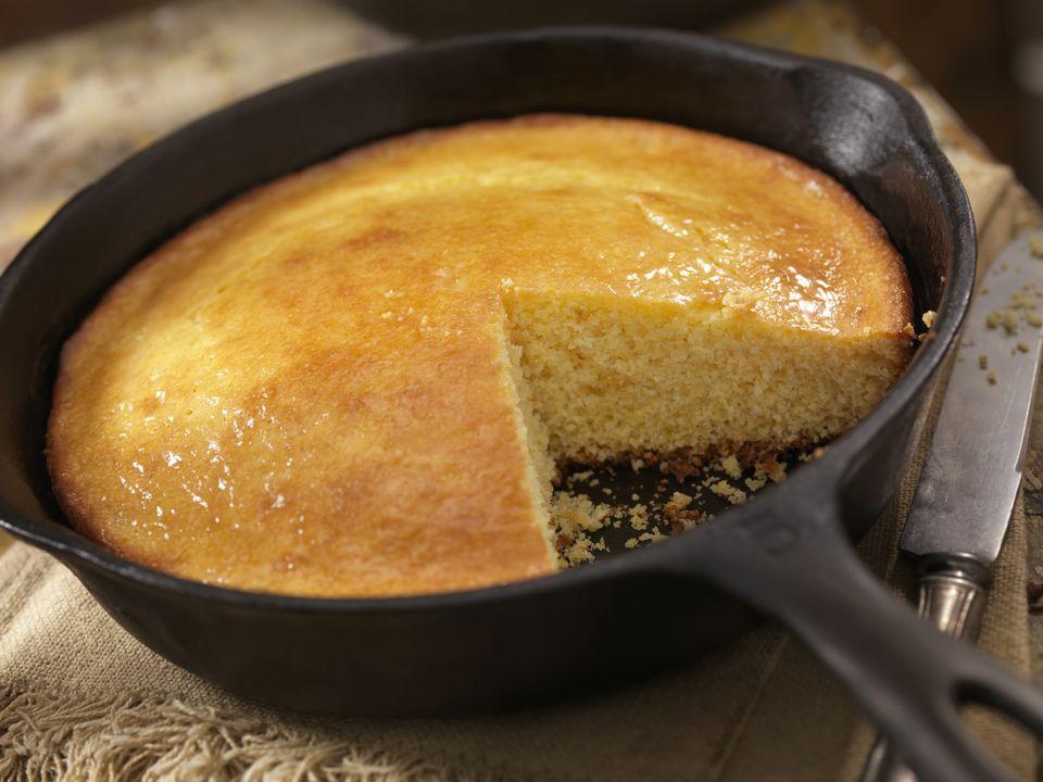 Corn Bread in a Cast Iron Skillet