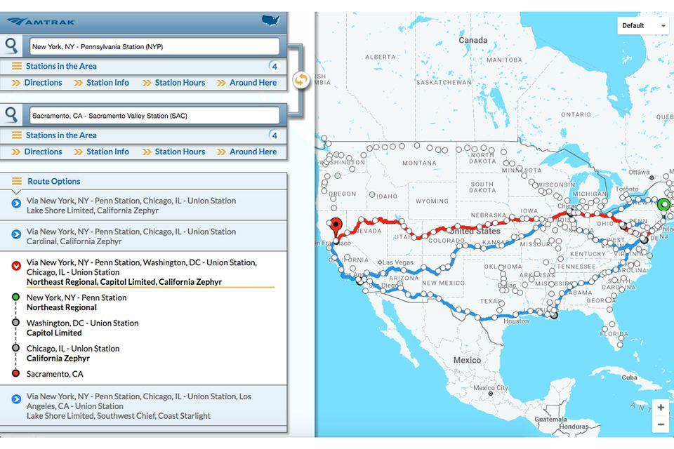 Coast to Coast Amtrak Routes Amtrak Routes
