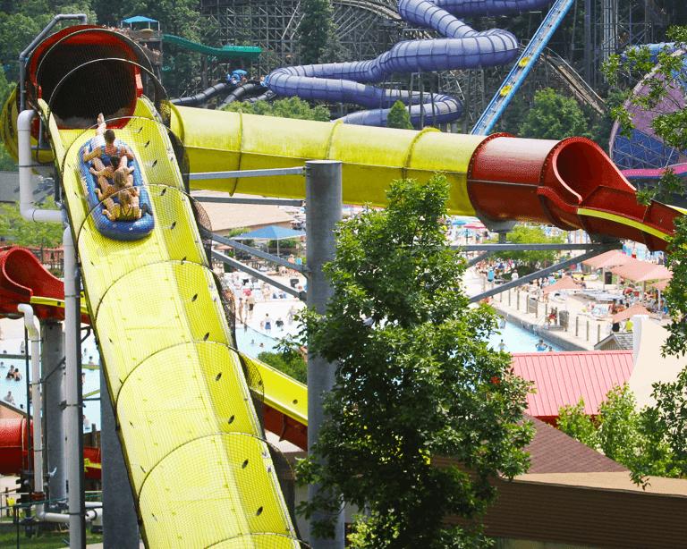 Wildebeest water coaster at Holiday World