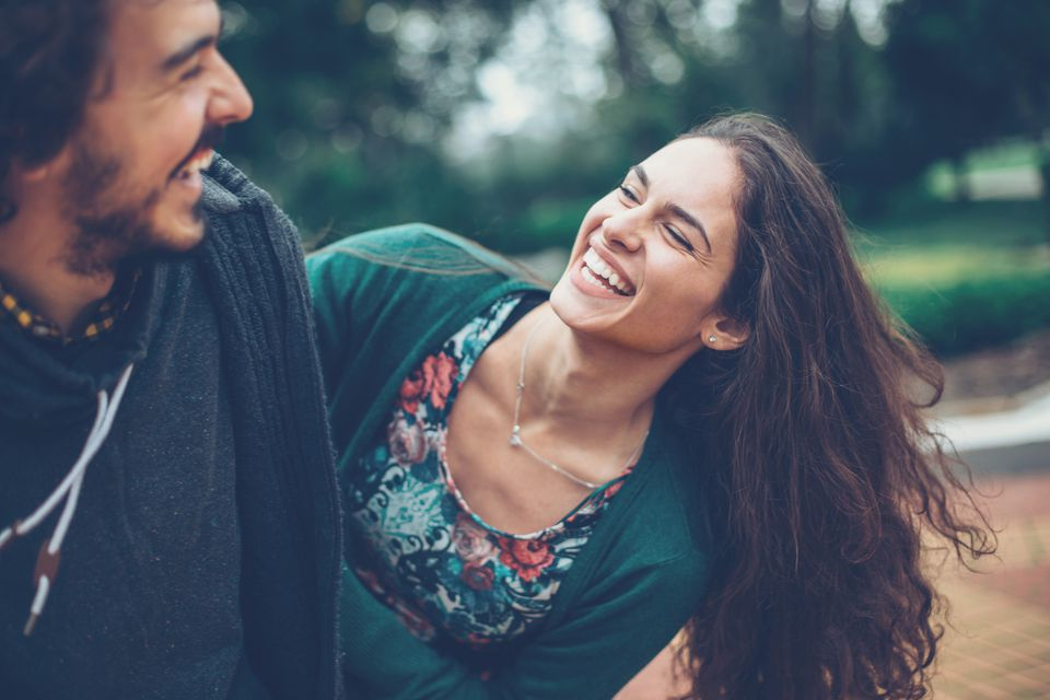 lovers laughing