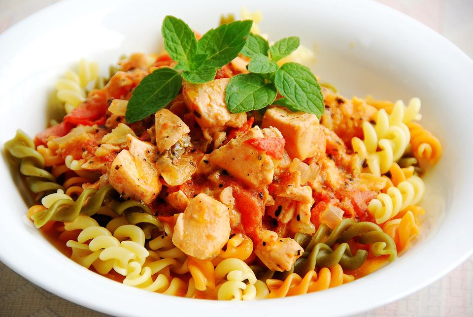 Lemon Salmon Pasta
