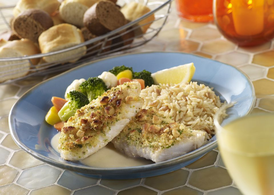 A plate of baked red snapper