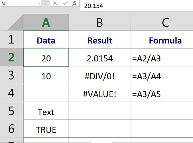"""Definition and Use of the Term """"Value"""" in Excel and Google Spreadsheets"""