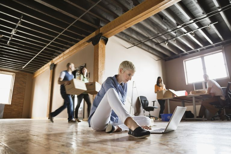 Entrepreneurs moving into creative office space