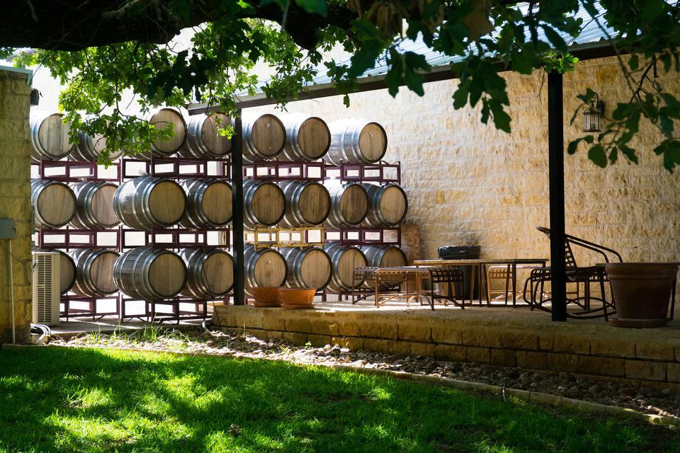 Wine Barrels at Becker Vineyards