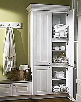 Free Standing Linen Closet  bathroom storage Bathroom Pictures