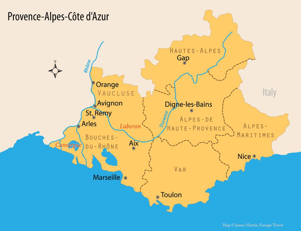 Map of Provence and Travel Guide to One of the Most Loved French
