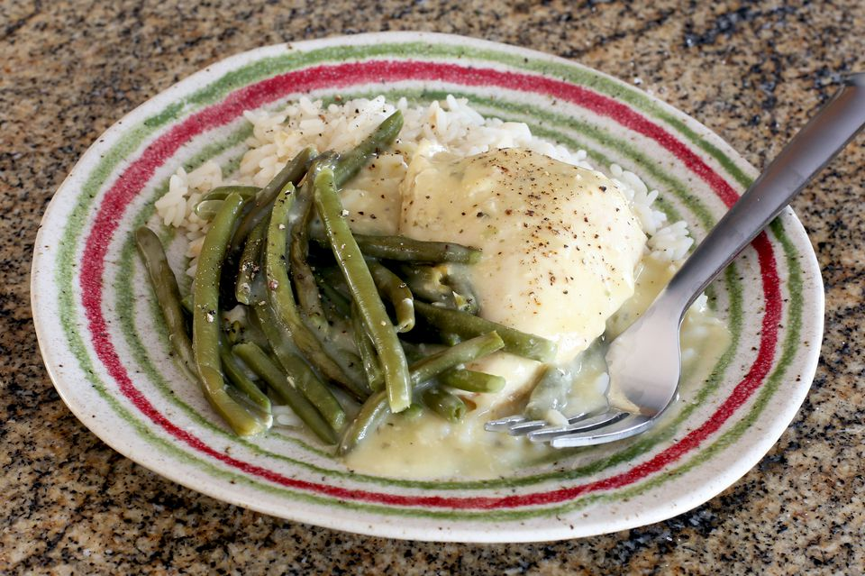 chicken and rice with green beans, slow cooker