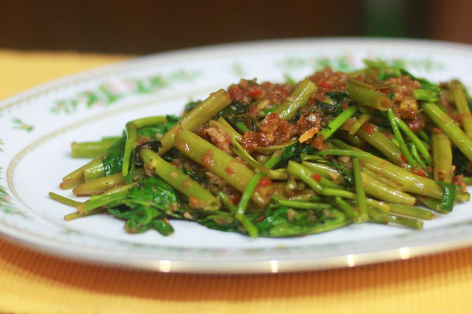 Sambal Kangkung With Shrimp Paste