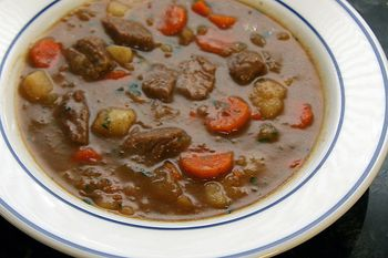 Crock Pot Vegetable Beef Stew With Apple Cider And Bacon