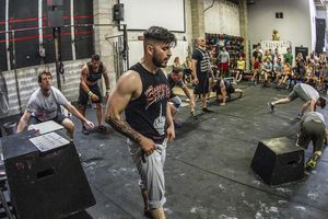 Crossfit Affiliate Owner David Osorio in his gym