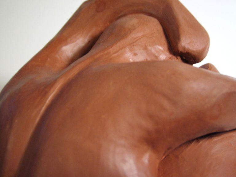 escultura de arcilla.