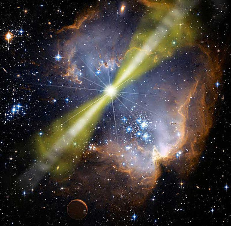 artist's concept of gamma-ray burster