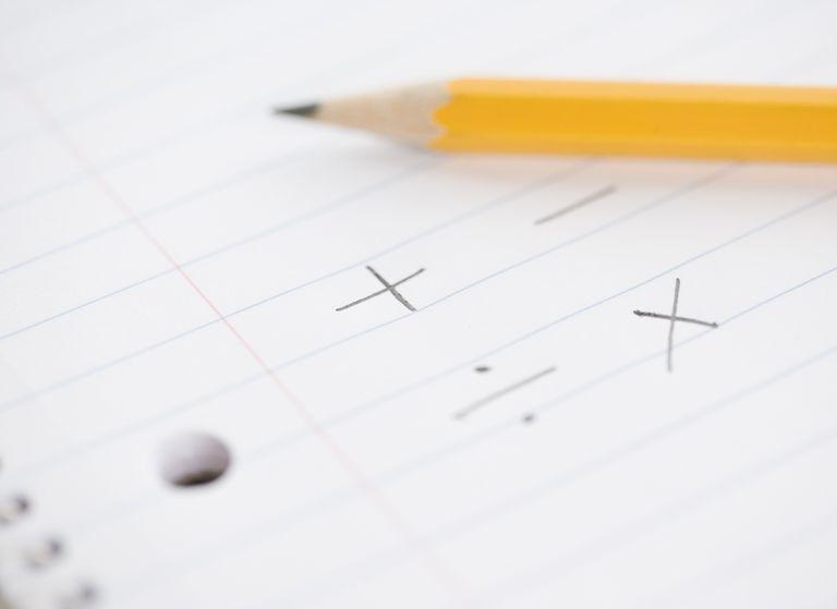 Math symbols in notebook (focus on symbols)