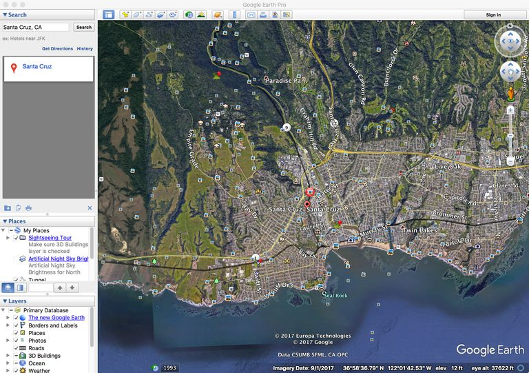 how to change google earth to utm on mac