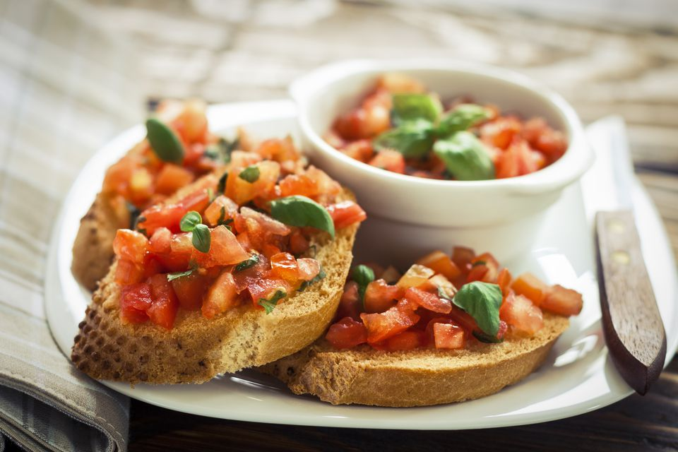 Easy vegan bruschetta